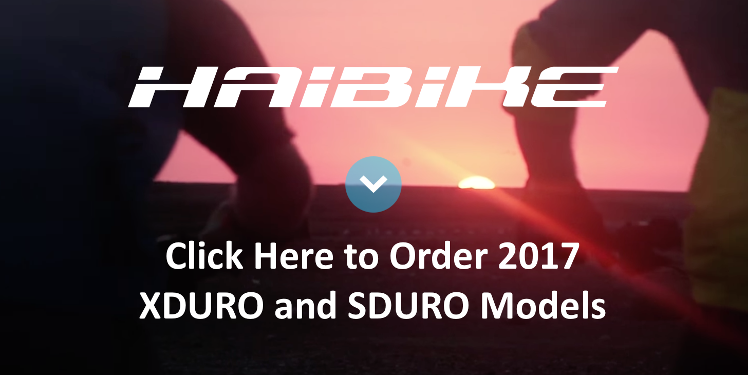 Click Here to Order 2017 Haibike Models